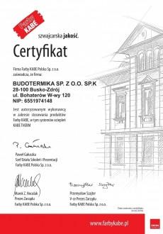 Certyfikat KABE